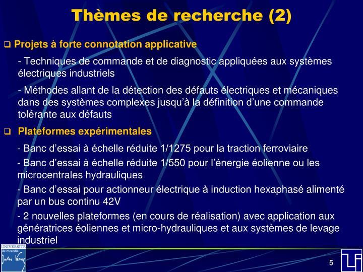 Thèmes de recherche (2)