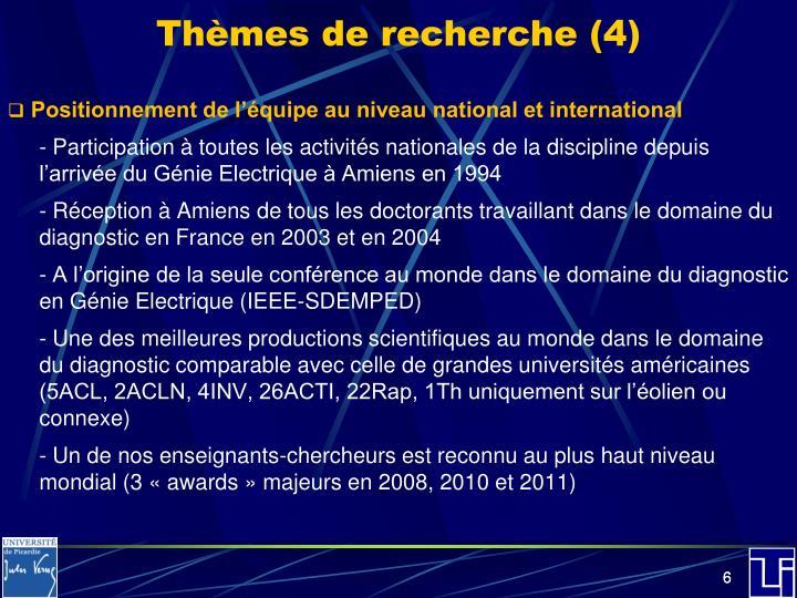 Thèmes de recherche (4)