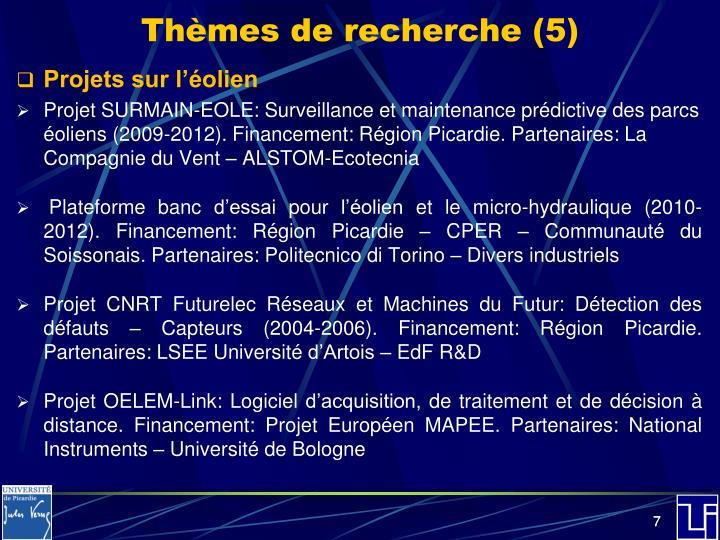 Thèmes de recherche (5)