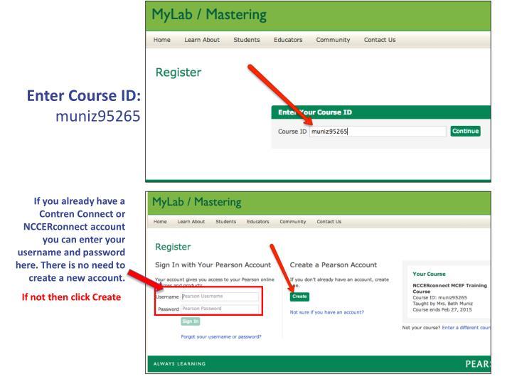 Enter Course ID: