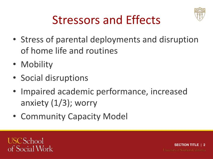 Stressors and effects