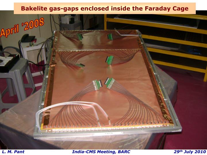 Bakelite gas-gaps enclosed inside the Faraday Cage