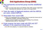 grid applications group gag
