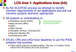 lcg area 1 applications area aa