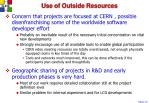 use of outside resources