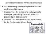 1 3 psychomotorik und psychische st rungen