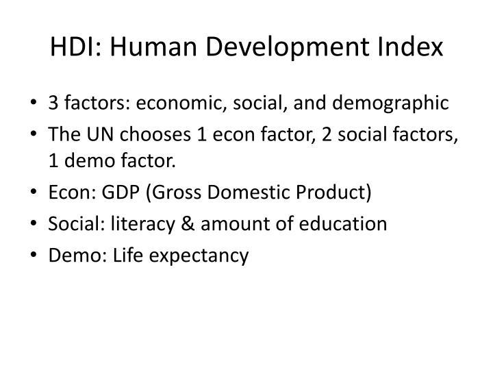 HDI: Human Development Index