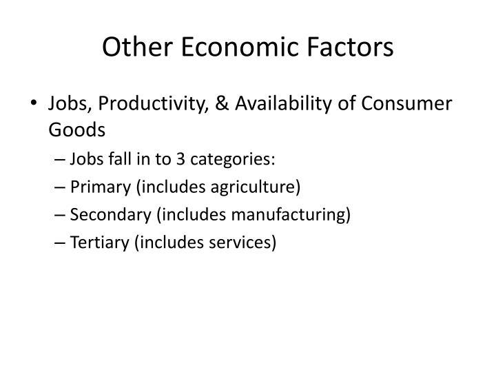 Other Economic Factors