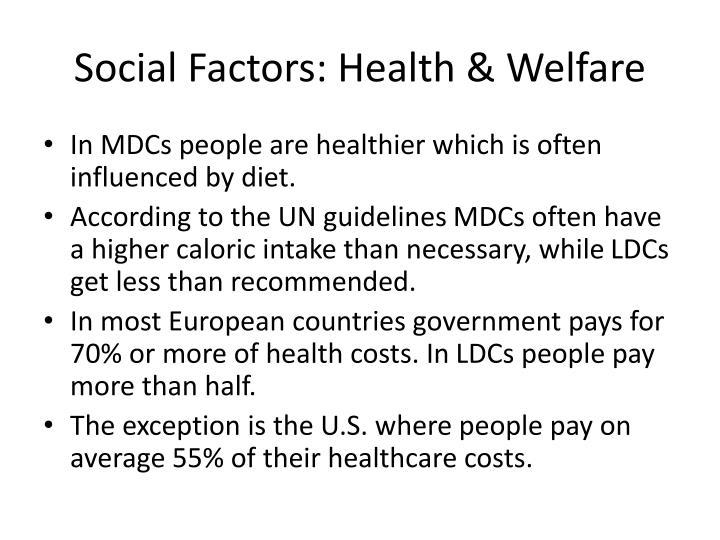 Social Factors: Health & Welfare