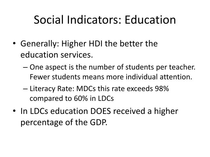 Social Indicators: Education