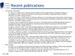 recent publications1