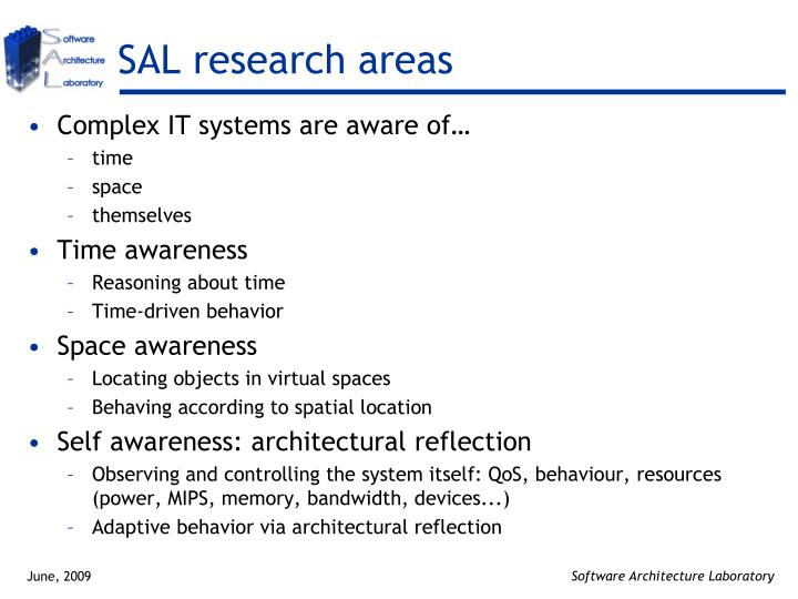 SAL research areas