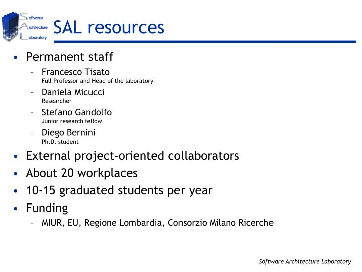 SAL resources