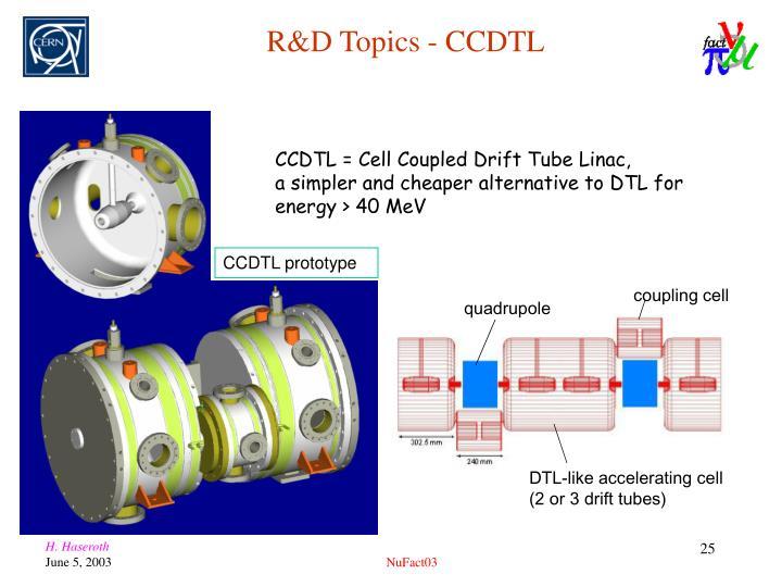 R&D Topics - CCDTL