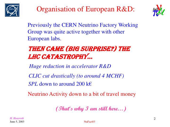 Then came (BIG surprise?) the LHC catastrophy…