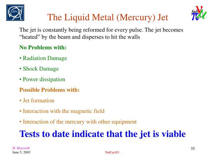 The Liquid Metal (Mercury) Jet