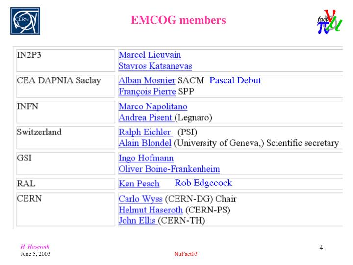 EMCOG members