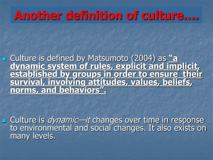 Another definition of culture….