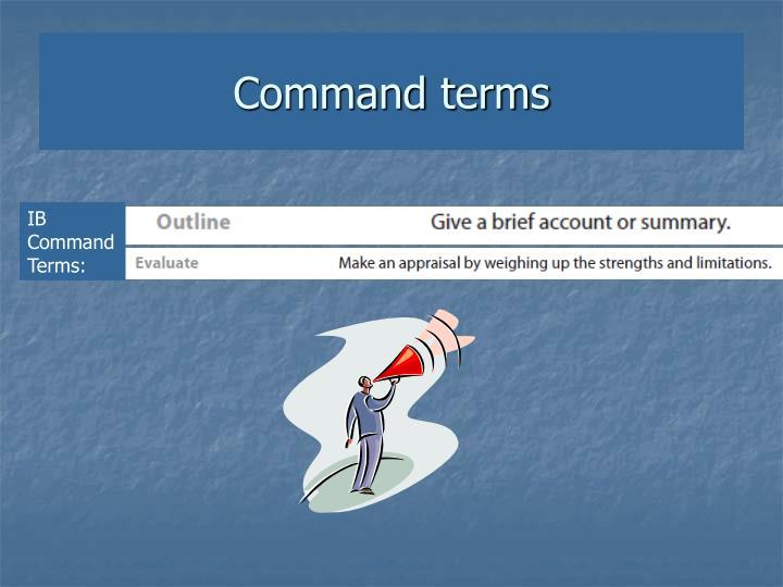 Command terms