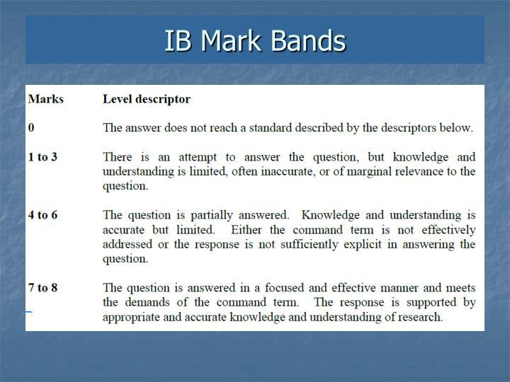 IB Mark Bands