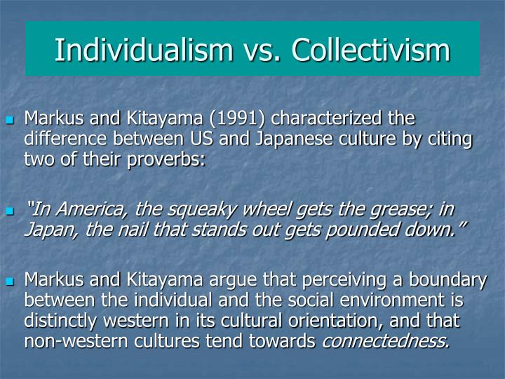 Individualism vs. Collectivism