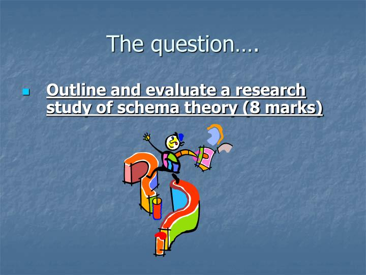 The question….