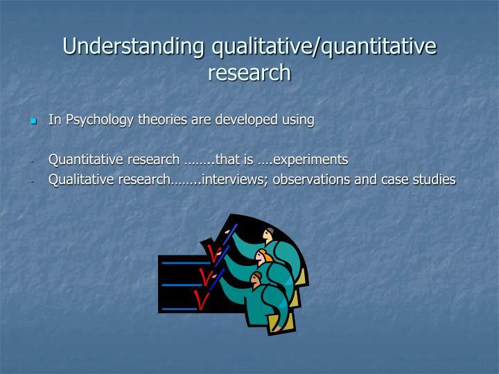 Understanding qualitative/quantitative research