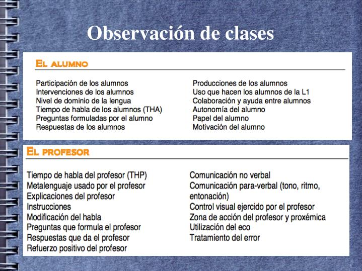 Observación de clases