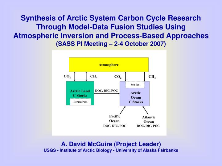 Synthesis of Arctic System Carbon Cycle Research