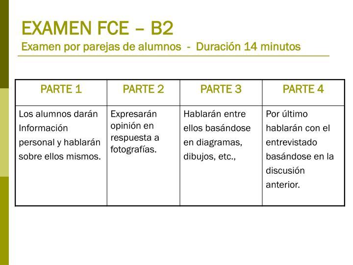 EXAMEN FCE – B2