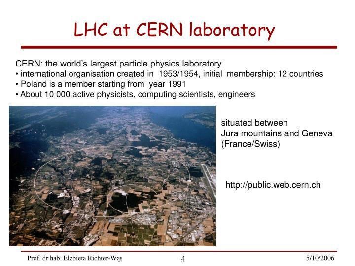 LHC at CERN laboratory