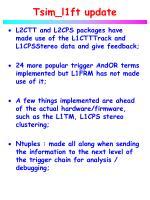 tsim l1ft update1
