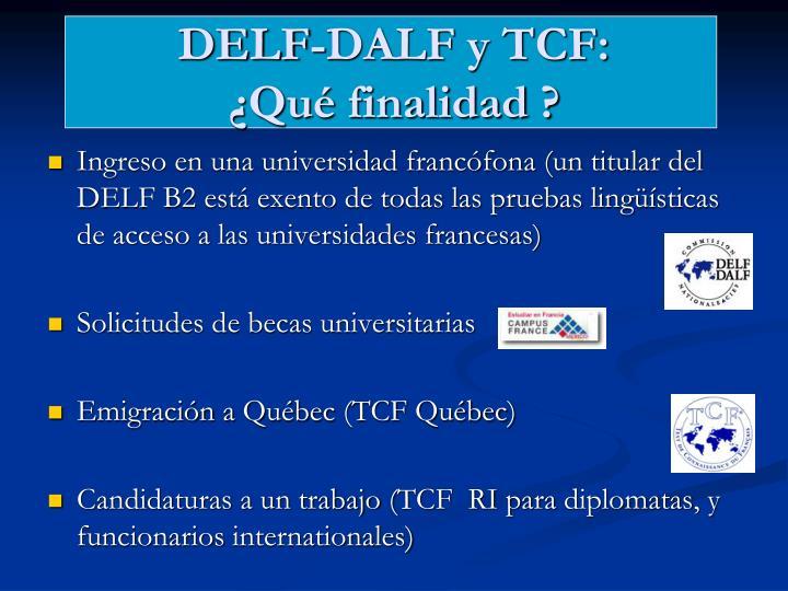 DELF-DALF y TCF: