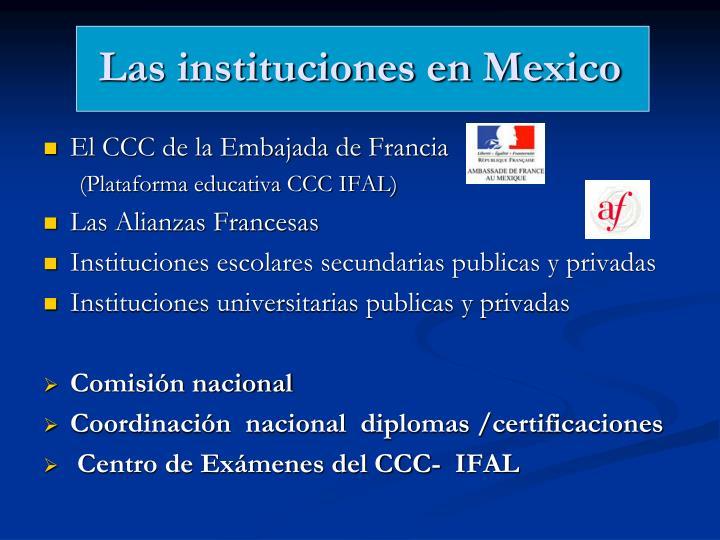 Las instituciones en