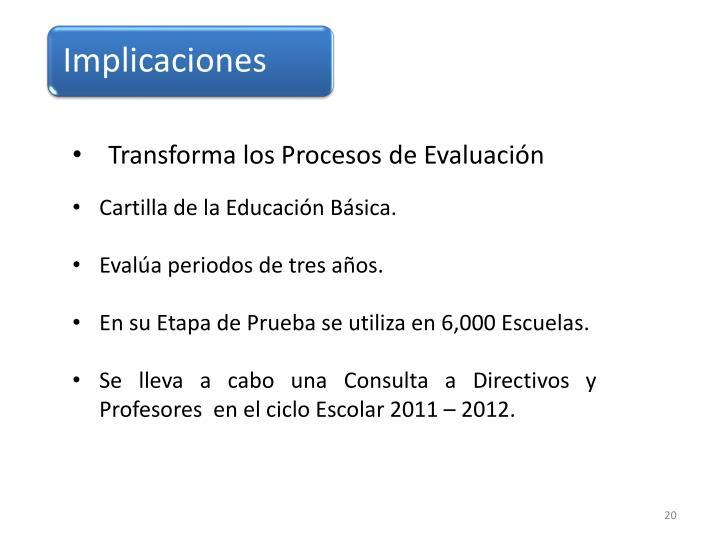 Transforma los Procesos de Evaluación