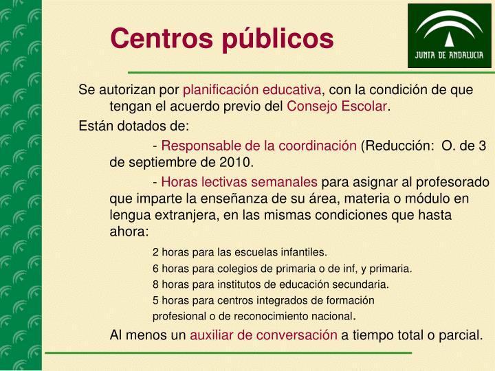 Centros públicos