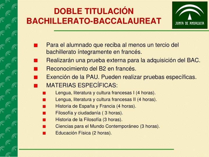 DOBLE TITULACIÓN