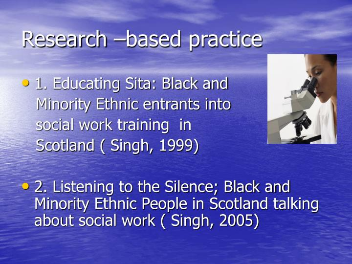 Research –based practice