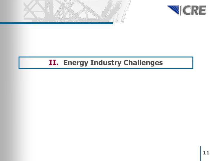 Energy Industry Challenges