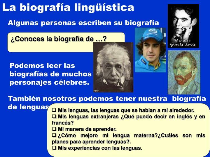 La biografía lingüística