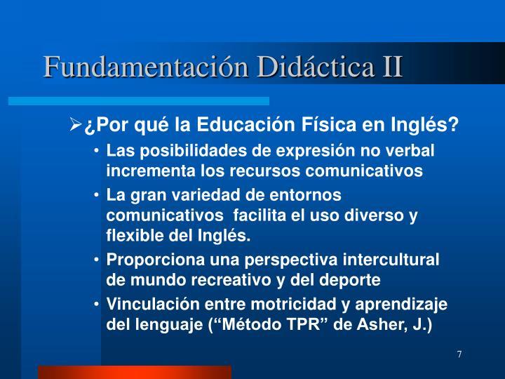 Fundamentación Didáctica II