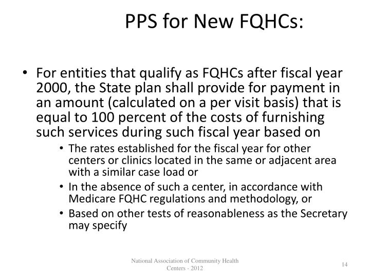 PPS for New FQHCs: