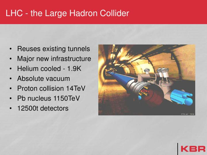 LHC - the Large Hadron Collider