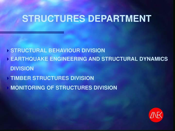 STRUCTURES DEPARTMENT