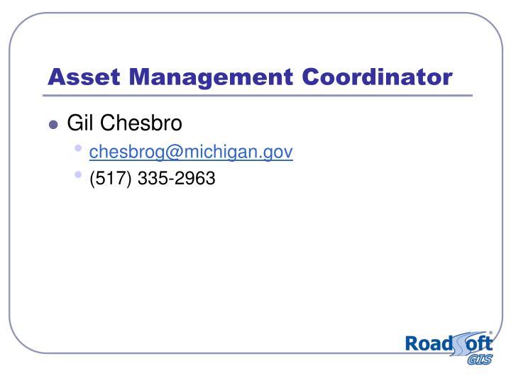 Asset Management Coordinator