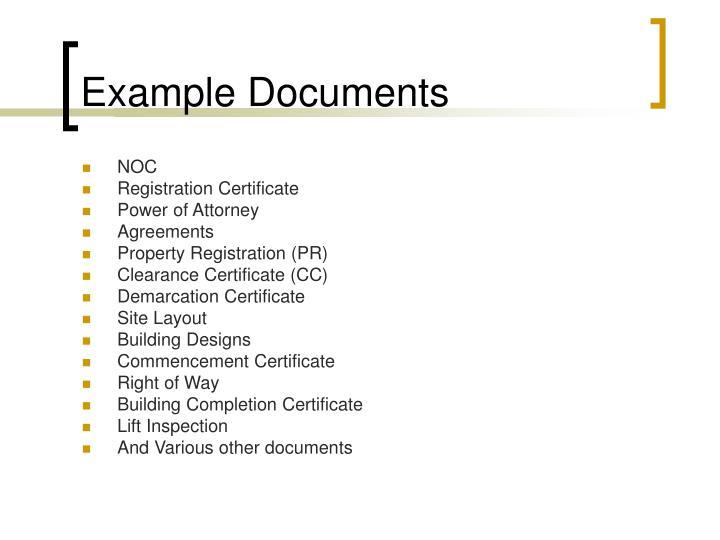 Example Documents
