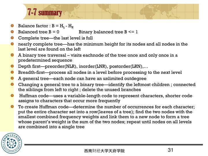 7-7 summary