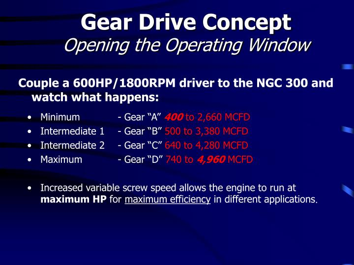 Gear Drive Concept