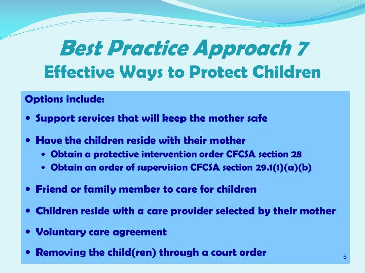 Best Practice Approach 7