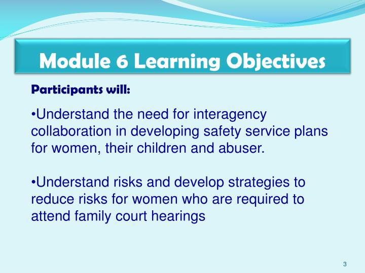 Module 6 Learning Objectives